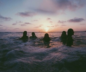 friends, summer, and sunset image