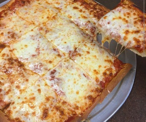 cheese, pizza, and foodporn image