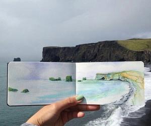 art, nature, and sea image
