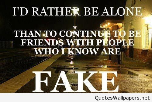 I\'d Rather be alone quotes on We Heart It