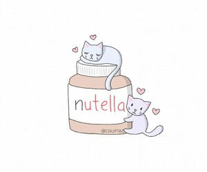 nutella, overlay, and cat image