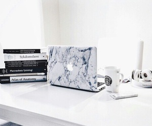 apple, book, and white image