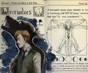 harry potter, hogwarts, and wolf image