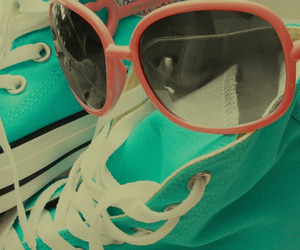 blue, converse, and glasses image