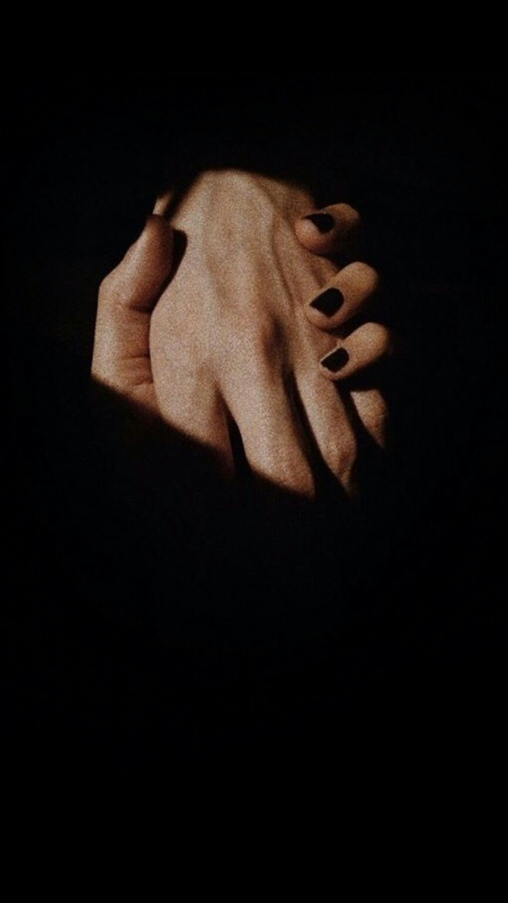black, dark, and hands image