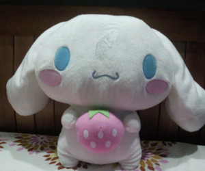 cinnamoroll, strawberry, and want image