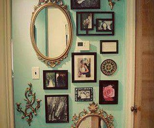 mirror, vintage, and wall image