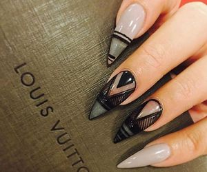 nails, Louis Vuitton, and black image
