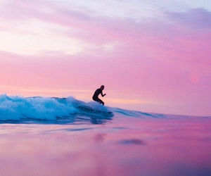 surf, waves, and sunset image