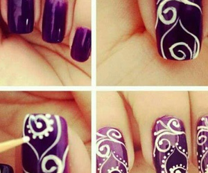 cool, flower, and nails image