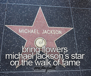 flowers, hollywood, and michael jackson image