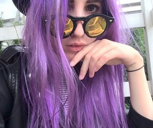 lady and purple image