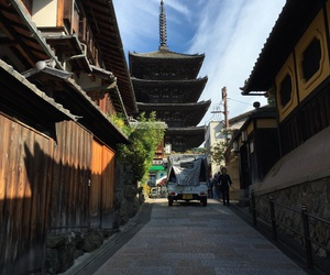 autumn, kyoto, and ancient city image