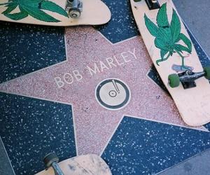 bob marley, skate, and weed image