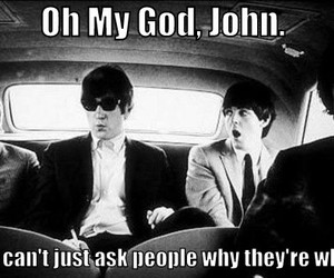 beatles, funny, and john lennon image