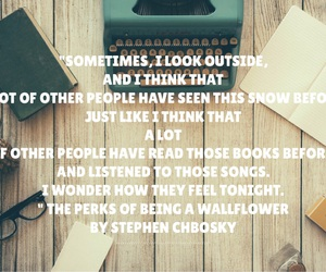 book, the perks of being a wallflower, and stephen chbosky image