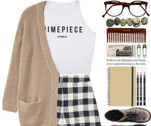 cardigan, fashion, and hipster image