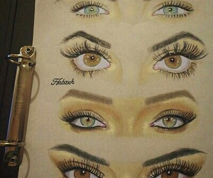 eyes, drawing, and rihanna image