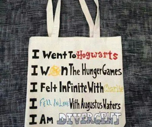 divergent, harry potter, and the hunger games image