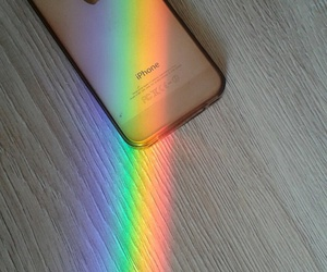iphone, 🌈, and light image