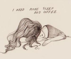 sleep, coffee, and drawing image