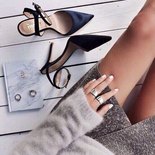 accessories, notebook, and stilettos image