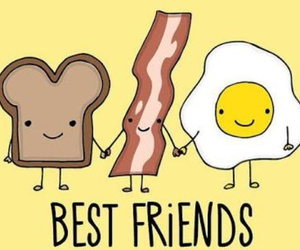 bacon and best friends image