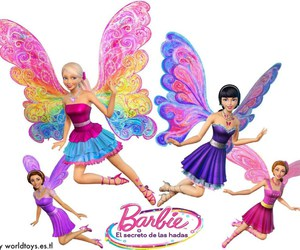 barbie, film, and butterfly image