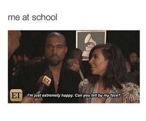 funny, school, and kanye west image