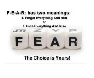 fear, forget everything and run, and face everything and rise image