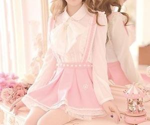 pink, kawaii, and dress image
