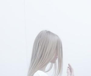 girl, photo, and white image