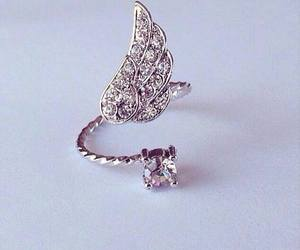 ring, diamond, and angel image
