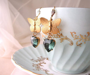 butterflies, etsy, and jewelry image
