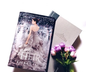 book, flowers, and princess image