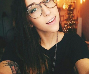 ally hills, youtuber, and glasses image