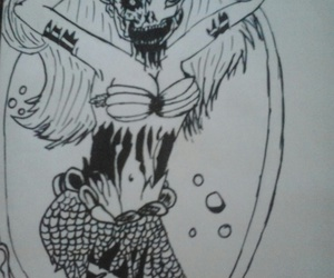 desenho, drawing, and pequena sereia image