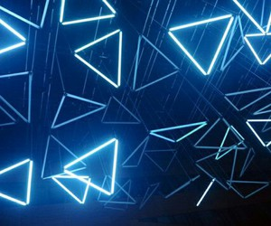 light, neon, and blue image