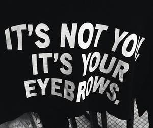 eyebrows, grunge, and black image