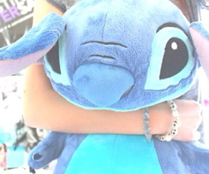 stitch, blue, and disney image