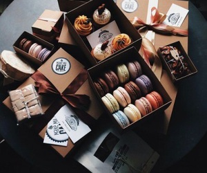 cupcakes, food, and macaroons image
