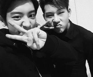 exo, chanyeol, and jooheon image