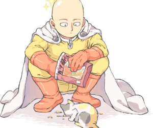 one punch man, neko, and opm image