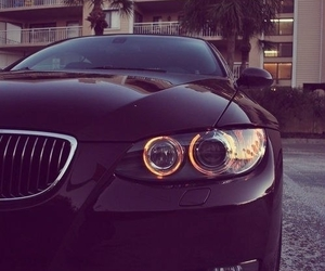car, bmw, and black image