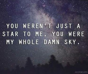 quote, star, and night image
