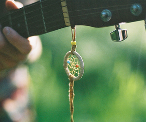 guitar, music, and dream catcher image
