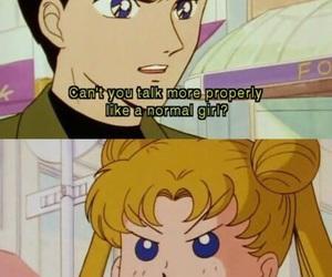 anime, anime girl, and mamoru chiba image