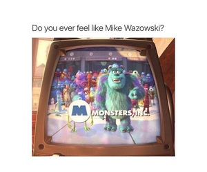 funny, monsters inc, and disney image