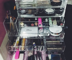 cosmetics, eyeliner, and mascara image