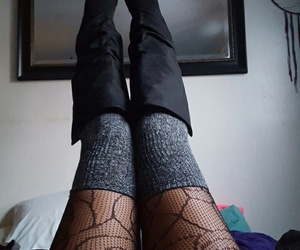 boots, thigh high socks, and legs image